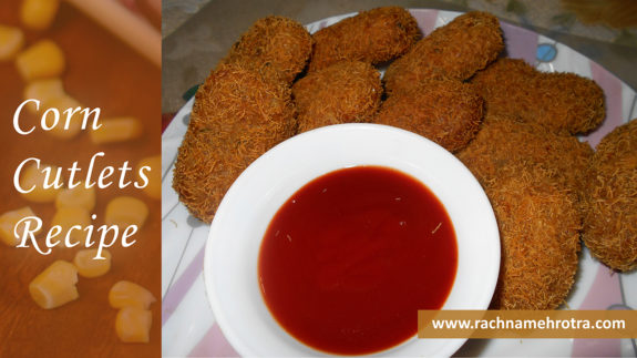 Sweet corn cutlets recipe
